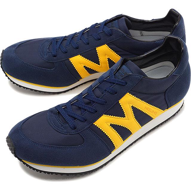 【即納】ミズノ Mライン MIZUNO M-Line 国産スニーカー MR-1 メンズ レディース 日本製 靴 ネイビー/イエロー [D1GA1950-14 SS19]