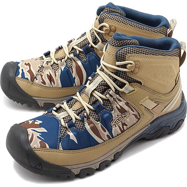 84ac55bdc002 mischief  Kean KEEN men Targhee E X P mid waterproof MEN TARGHEE EXP MID WP  trekking boots shoes Desert Dawn Sand Wave  1020728 SS19