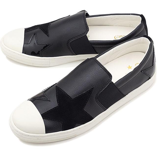 【即納】コンバース CONVERSE オールスター クップ トリオスター スリップオン ALL STAR COUPE TRIOSTAR SLIP-ON メンズ スニーカー 靴 ブラック [32169341 SS19]