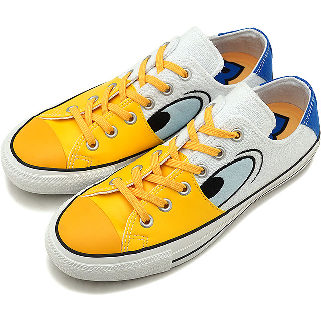 Converse CONVERSE Disney all stars 100 Donald Duck FC low frequency cut ALL STAR 100 DONALD DUK FC OX Lady's sneakers shoes white [32863300 SS19]
