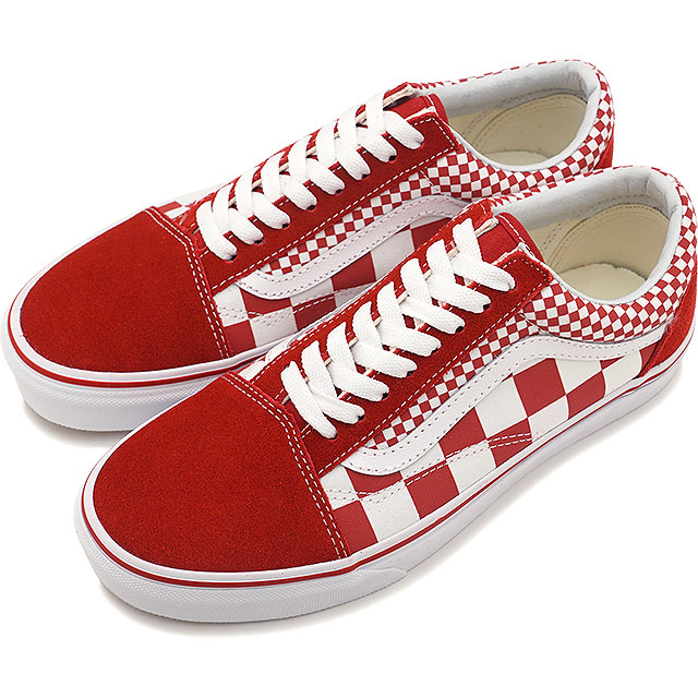 9096909e3a5 Vans VANS mixture checker old school MIX CHECKER OLD SKOOL Lady s station  wagons sneakers shoes CHILI PEPPER TRUE WHITE (VN0A38G1VK5 SS19)