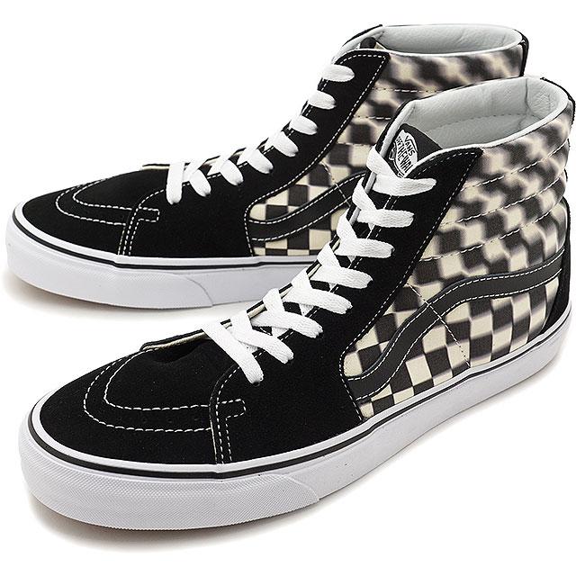 Vans VANS ブラーチェックスケートハイ BLUR CHECK SK8-HI メンズヴァンズスケハイスニーカー shoes BLACK CLASSIC  WHITE (VN0A38GEVJM SS19) 6421cf3307b9