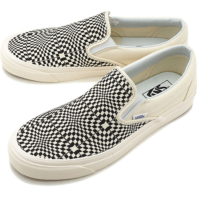 400cda1f889d91 Vans VANS Anaheim factory classical music slip-on 98 DX ANAHEIM FACTORY  CLASSIC SLIP-ON 98 DX men gap Dis station wagons sneakers shoes OG BLACK  WHITE WARP ...