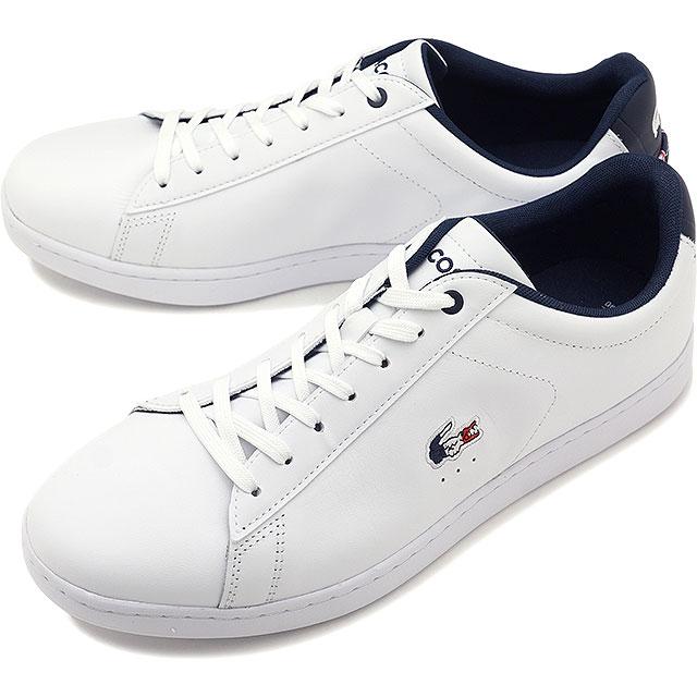 【即納】ラコステ LACOSTE メンズ カーナビー エボ MNS CARNABY EVO 119 7 SMA スニーカー 靴 WHT/NVY/RED ホワイト系 [SMA0013-407 SS19]