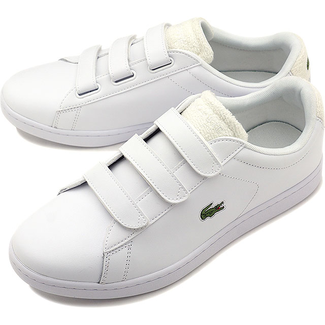 【即納】ラコステ LACOSTE メンズ カーナビー エボ ストラップ MNS CARNABY EVO STRAP 119 3 SMA スニーカー 靴 WHT/OFF WHT ホワイト系 [SMA0017-65T SS19]