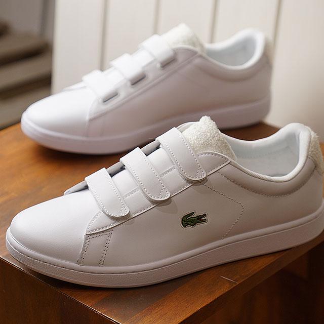 Nowy Jork najlepsze trampki różne style Lacoste LACOSTE メンズカーナビーエボストラップ MNS CARNABY EVO STRAP 119 3 SMA sneakers  shoes WHT/OFF WHT white system [SMA0017-65T SS19]