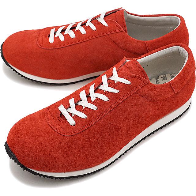 【即納】ブルーオーバー blueover マイキー MIKEY メンズ 日本製 ベロアレザー スニーカー 靴 RED レッド系 [SS19]