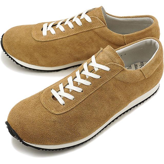 【即納】ブルーオーバー blueover マイキー MIKEY メンズ 日本製 ベロアレザー スニーカー 靴 CAMEL ブラウン系 [SS19]