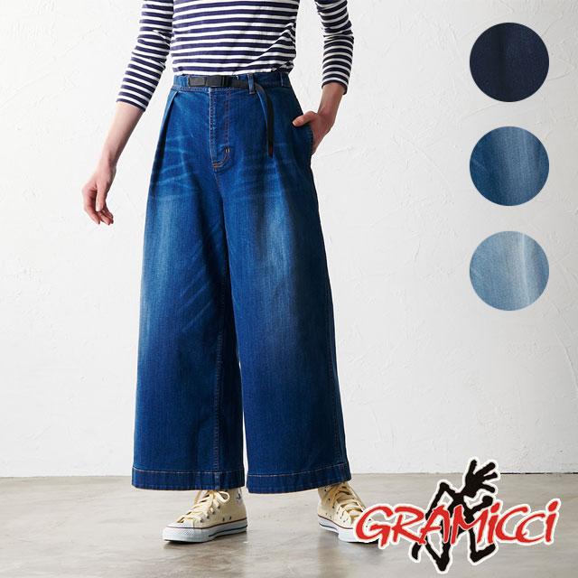 【即納】グラミチ GRAMICCI レディース ストレッチデニム バギーパンツ DENIM BAGGY PANTS ワイドパンツ [GLP-19S014 SS19]