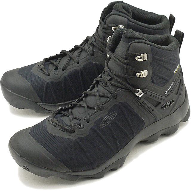 【限定モデル】キーン KEEN メンズ ヴェンチャー ミッド ウォータープルーフ MEN VENTURE MID WP トレッキングシューズ 靴 Black/Black [1021168 SS19]
