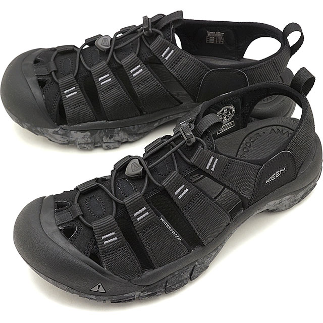 【5/1限定!カード&エントリー14倍】キーン KEEN メンズ ニューポート エイチツー MEN NEWPORT H2 サンダル 靴 Black/Swirl Outsole [1020285 SS19]