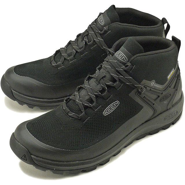 【即納】キーン KEEN メンズ シティズン エヴォ ミッド ウォータープルーフ MEN CITIZEN EVO MID WP アウトドア スニーカー 靴 Triple Black/Black [1021161 SS19]