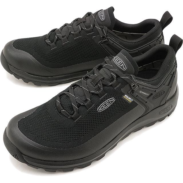 【即納】キーン KEEN メンズ シティズン エヴォ ウォータープルーフ MEN CITIZEN EVO WP アウトドア スニーカー 靴 Triple Black/Black [1021159 SS19]