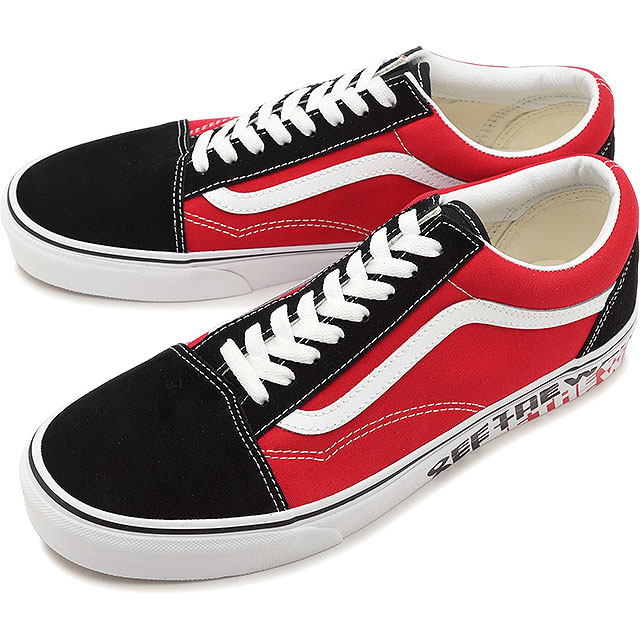 998a241b59 Vans VANS オブザウィールサイドウォールオールドスクール OTW SIDEWALL OLD SKOOL men station wagons sneakers  shoes BLACK RACING RED (VN0A38G1VRH SS19)