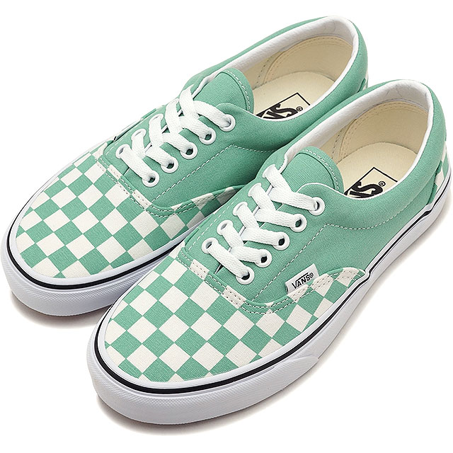 427120d6e533d6 Vans VANS checkerboard gills CHECKERBOARD ERA Lady s station wagons sneakers  shoes NEPTUNE GREEN TRUE WHITE (VN0A38FRVOV SS19)