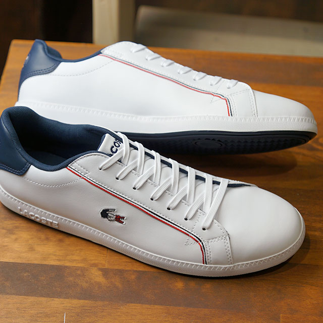 Lacoste LACOSTE men graduation MNS GRADUATE 119 3 SMA sneakers shoes  WHT/NVY/RED white system [SMA0022-407 SS19]