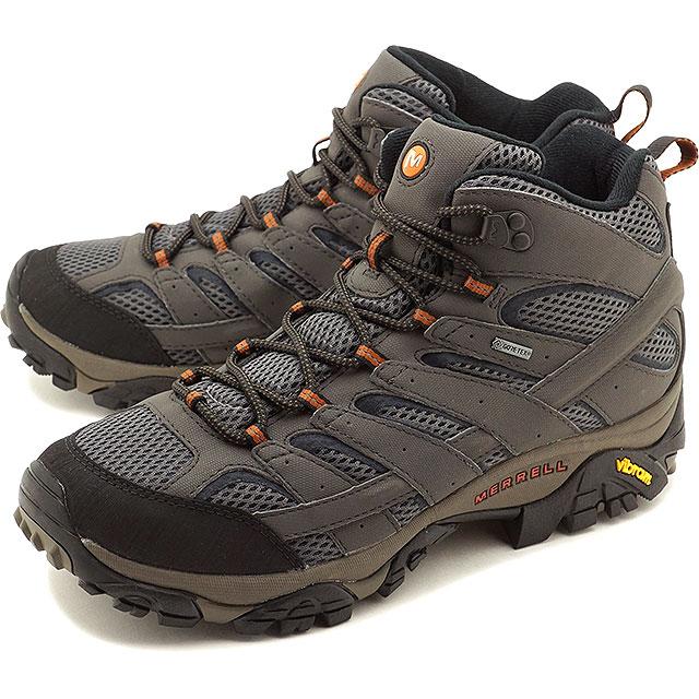 【即納】メレル MERRELL メンズ モアブ2 ミッド ゴアテックス MNS MOAB2 MID GORE-TEX ハイキング トレッキングシューズ スニーカー 靴 BELUGA グレー系 [06059 SS19]
