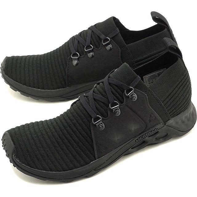 【即納】メレル MERRELL メンズ レンジ エーシープラス MNS RANGE AC+ リラックス スニーカー 靴 TRIPLE BLACK ブラック系 [97631 SS19]
