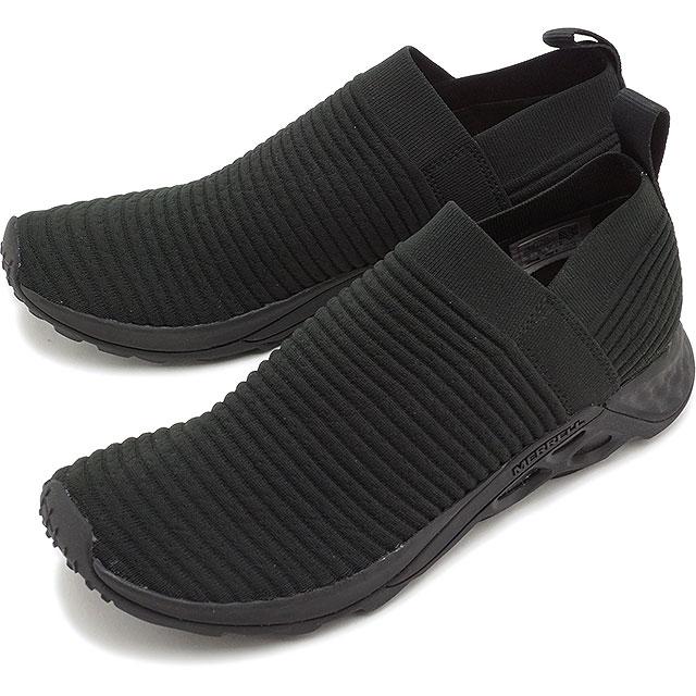 【即納】メレル MERRELL メンズ レンジ レースレス エーシープラス MNS RANGE LACELESS AC+ リラックス スニーカー 靴 TRIPLE BLACK ブラック系 [97629 SS19]