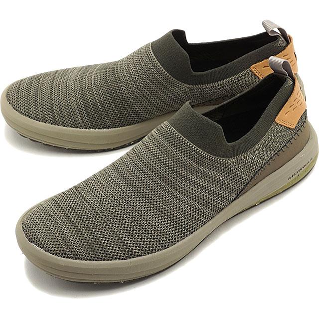 【即納】メレル MERRELL メンズ グリッドウェイ モック MNS GRIDWAY MOC スリッポン リラックス スニーカー 靴 BOULDER グレー系 [97455 SS19]