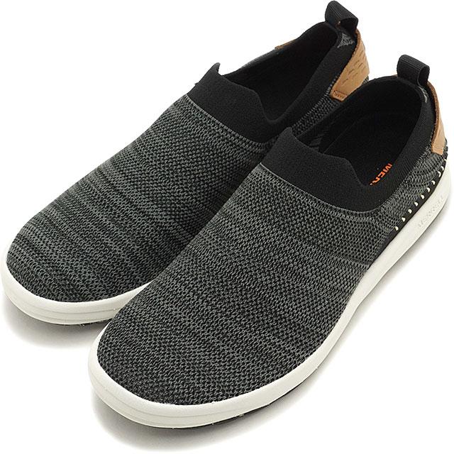 【即納】メレル MERRELL レディース グリッドウェイ モック WMS GRIDWAY MOC スリッポン リラックス スニーカー 靴 BLACK ブラック系 [97544 SS19]
