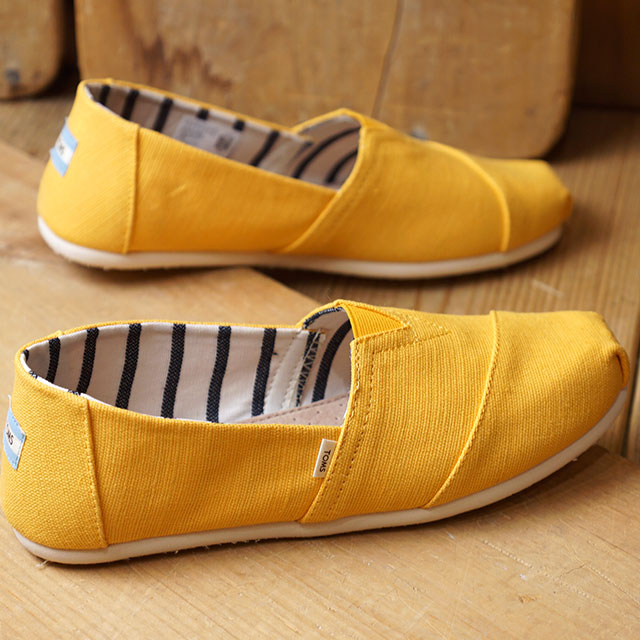 Tom's TOMS men espadrille slip ons MNS Alpargata Thoms shoes shoes Gold Fusion Heritage Canvas yellow [10013540 SS19]