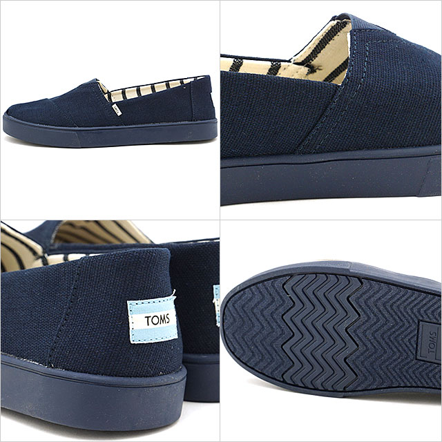 726b93b6f98 Tom s TOMS men espadrille slip-ons cup sole MNS Alpargata Cupsole Thoms  shoes shoes Navy Navy Heritage Canvas Cupsole navy system  10013557 SS19
