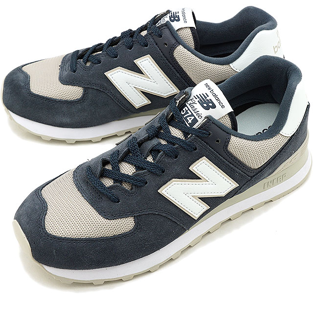 57ee3f0cbe0f3 New Balance newbalance ML574 ESQ men gap Dis sneakers shoes OUTER SPACE  navy system [ML574ESQ ...