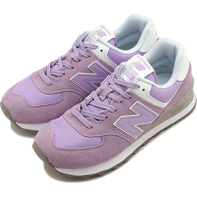 54ff0d27 New Balance newbalance WL574 ESD Lady's sneakers shoes VIOLET GLO pink  system [WL574ESD SS19][ts][e]