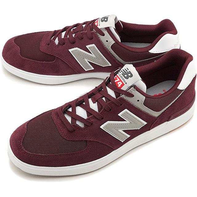 【5%OFFクーポン対象品】【即納】ニューバランス newbalance AM574 MRR メンズ レディース スニーカー 靴 BURGUNDY バーガンディー系 [AM574MRR SS19]
