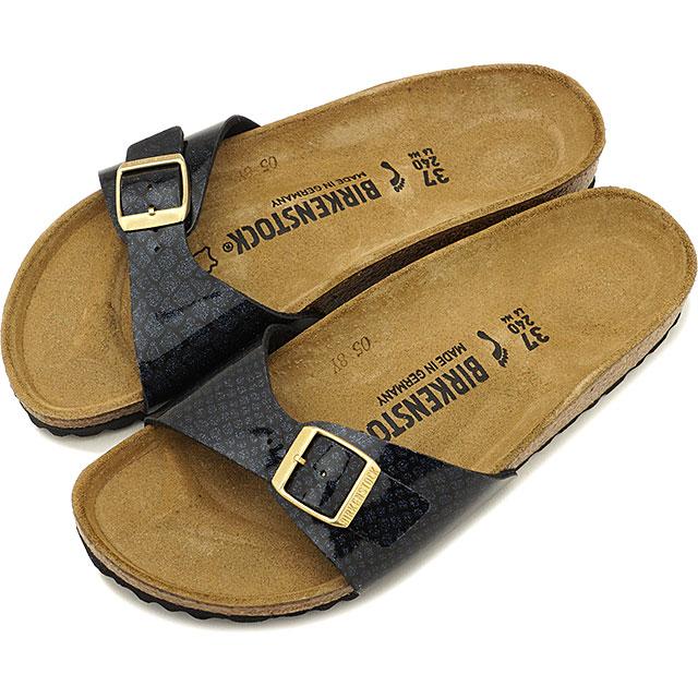 【5%OFFクーポン対象品】ビルケンシュトック BIRKENSTOCK マドリッド Madrid メンズ レディース サンダル 靴 Magic Snake Black [GC1009042 GC1009043 SS19]