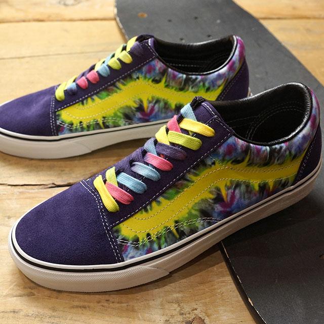 Vans VANS tie dyeing old school TIE DYE OLD SKOOL men station wagons sneakers shoes MYSTERIOSOTRUE WHITE [VN0A38G1VMO SS19]