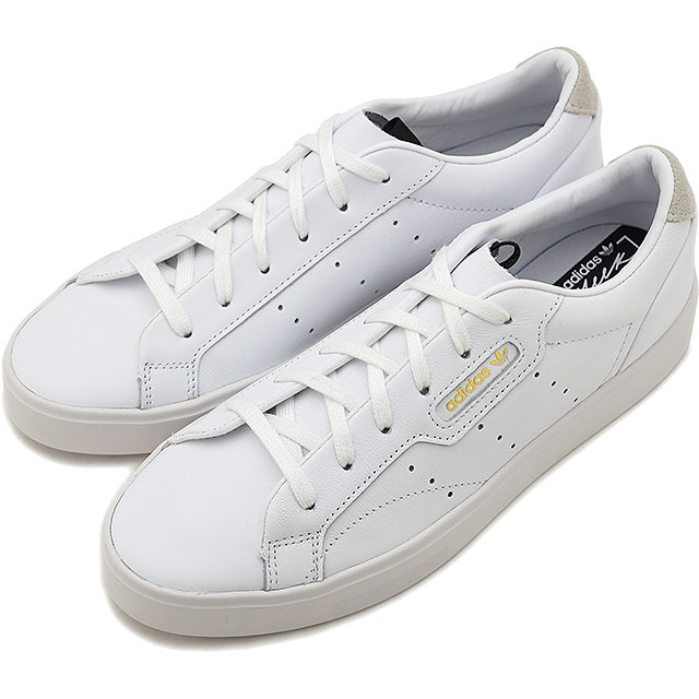 best service 83025 55716 Adidas originals adidas Originals Lady s Adidas s leak women adidas SLEEK W  sneakers shoes R white  R white white system  CEX07 DB3258 SS19Q2