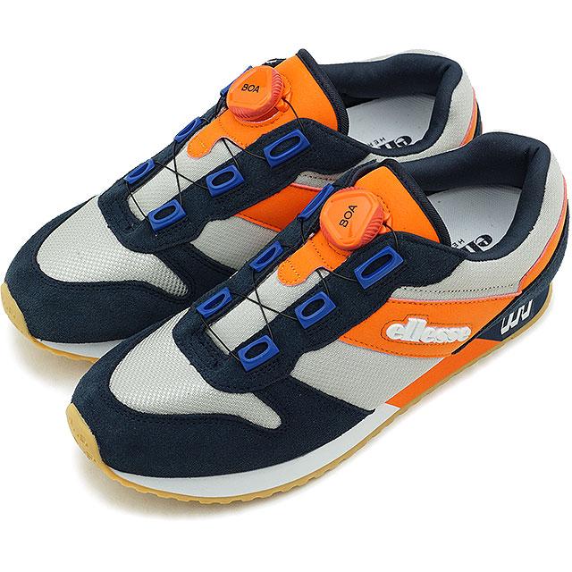 【即納】エレッセ ellesse ヘリテージ LS117 '19 ボア Heritage LS117 '19 BOA メンズ レディース スニーカー 靴 NO ネイビー/オレンジ ネイビー系 [EFH9123 SS19]