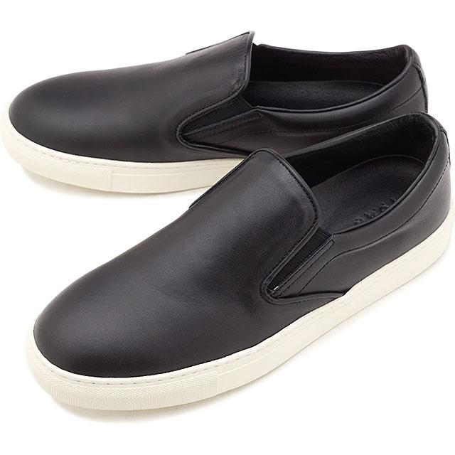 【即納】ヨーク YOAK メンズ リリー スムース LILY SMOOTH レザー スリッポン スニーカー 日本製 靴 BLACK ブラック系 [ SS19]