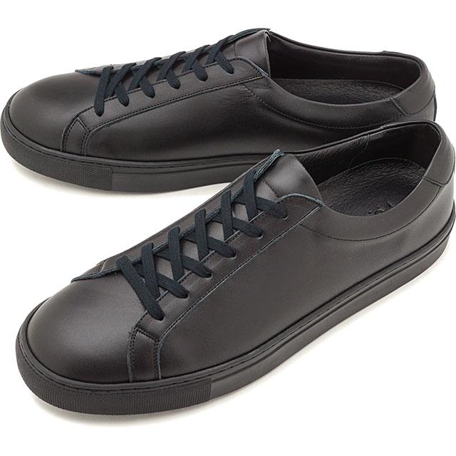 【5/1限定!カード&エントリー19倍】ヨーク YOAK メンズ スタンレー STANLEY レザースニーカー 日本製 靴 BLACK ブラック系 [ SS19]