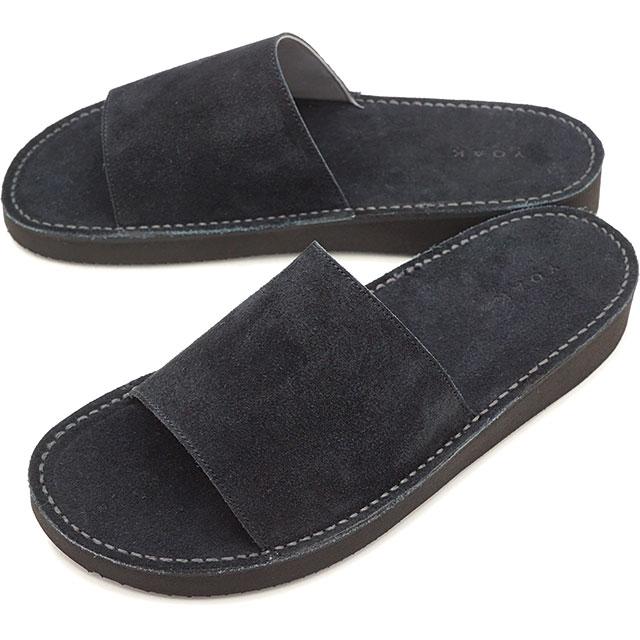 【即納】ヨーク YOAK メンズ オリバー OLIVER レザー サンダル ビブラムソール 日本製 靴 BLACK ブラック系 [ SS19]