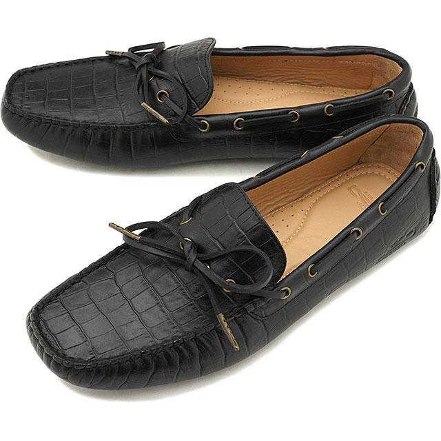 【5/1限定!カード&エントリー19倍】トップセブンTOP SEVEN クロコ型押し ドライビングシューズ TS-5523 メンズ・レディース ローファー 大人カジュアル 靴 BLACK ブラック系 [SS19]