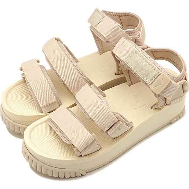 SHAKA シャカ サンダル ネオ バンジー プラットフォーム NEO BUNGY PLATFORM メンズ・レディース 厚底 ストラップ アウトドア 靴 NATURAL ホワイト系 [SK433105]