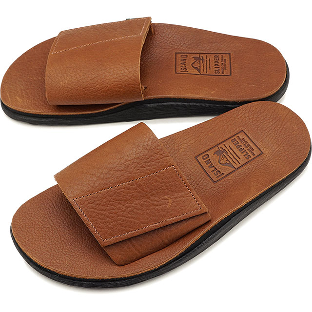 【ハワイ製】アイランドスリッパ ISLAND SLIPPER シボレザー ベルクロサンダル KB702 VABH メンズ・レディース スライドサンダル 靴 TOBACCO ブラウン系 [KB702 VABH]