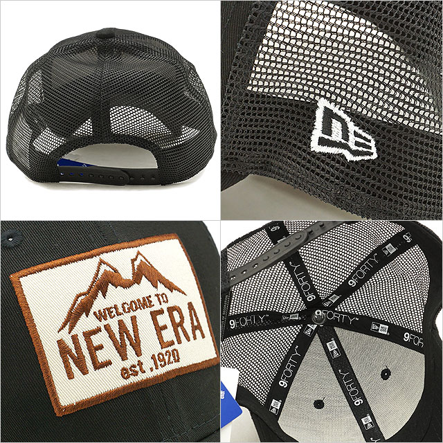 0eae632ec New gills outdoor NEWERA OUTDOOR 9FORTY TRUCKER MOUNTAIN mountain trucker  cap men gap Dis mesh cap hat black system [11897312 SS19]