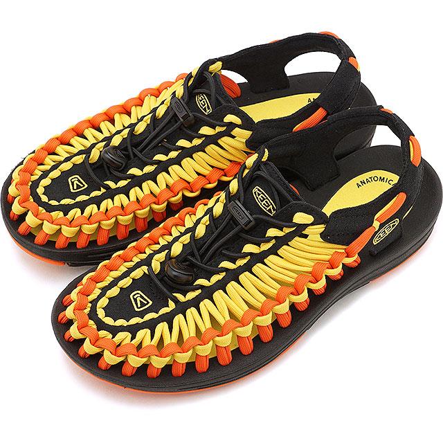 【即納】キーン KEEN レディース ユニーク フラット WOMEN UNEEK FLAT サンダル 靴 Vibrant Yellow/Flame [1020799 SS19]
