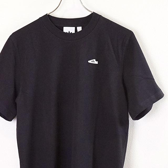 Adidas originals adidas Originals men mini emblem T shirt MINI EMB TEE superstar embroidery short sleeves black system [GEM55ED7638 FW19]
