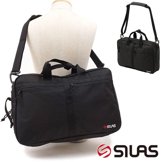 【即納】サイラス SILAS メンズ 3ウェイ ドキュメントバッグ 3WAY DOCUMENT BAG ブリーフケース ショルダーバッグ ビジネス バックパック ブラック系 [10192006 SS19]