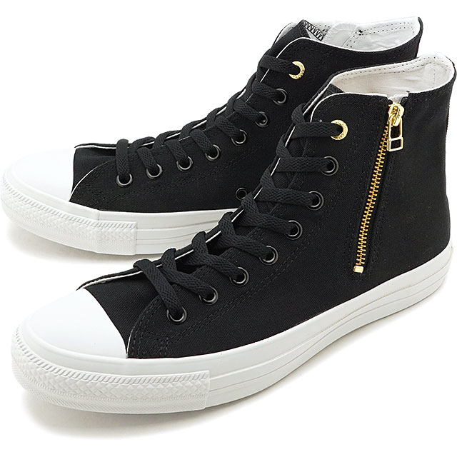 Converse CONVERSE sneakers all stars gold zip 2 higher frequency elimination ALL STAR GOLDZIP II HI men Lady's BLACK [31301531 SS20]