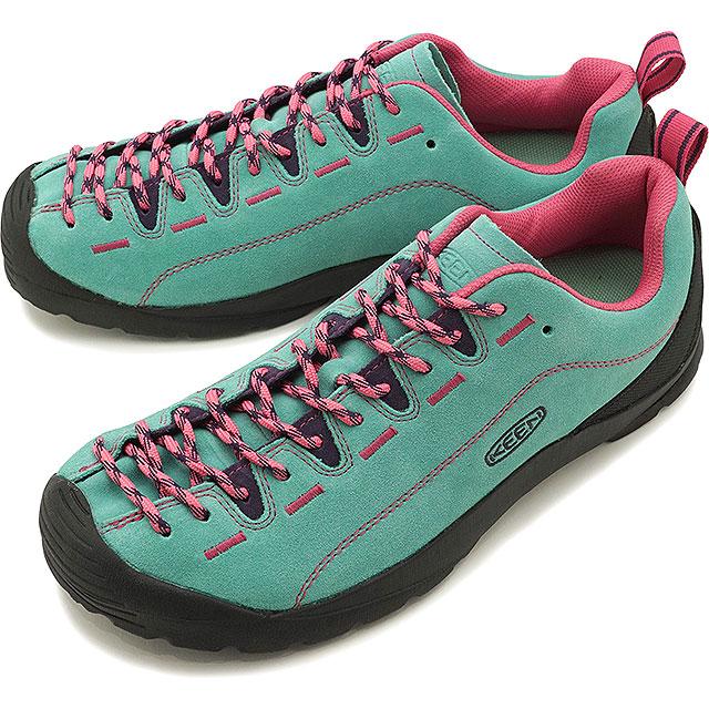 【5/1限定!カード&エントリー19倍】KEEN キーン スニーカー ジャスパー M JASPER [1022641 SS20] メンズ アウトドアシューズ 靴 Dusty Jade Green/Fuchsia Pink ブルー系