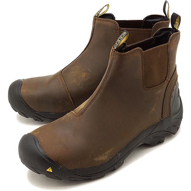 【在庫限り】キーン KEEN サイドゴアブーツ デトロイト スリップ M DETROIT SLIP [1013264 FW18] メンズ 防水 キャンプ アウトドア 靴 CASCADE BROWN ブラウン系【ts】