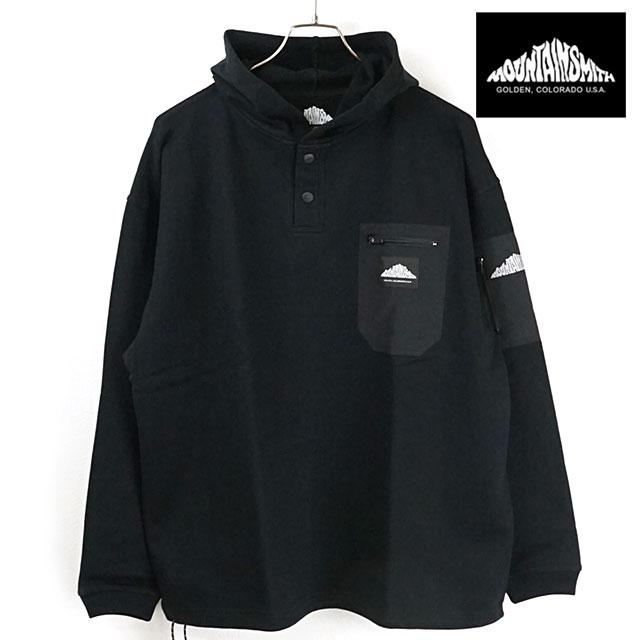 マウンテンスミス MOUNTAIN SMITH メンズ パーカー ヤンパ リサイクルド フーディー Yampa recycled hoode [MS0-000-200017 SS20] トップス 長袖 プルオーバー アウトドア BLACKブラック系