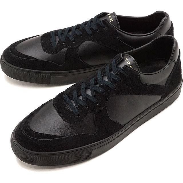 【5/1限定!カード&エントリー19倍】ヨーク YOAK 国産スニーカー ユリス ULYSE [ SS20] メンズ 日本製 レザーシューズ 靴 BLACK/BLACK ブラック系