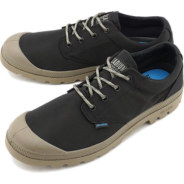 【5/1限定!カード&エントリー10倍】パラディウム PALLADIUM パンパ OX パドルライト ウォータープルーフ プラス PAMPA OX PUDDLE LITE WP+ [76356-010 SS20] メンズ・レディース 防水 ローカット スニーカー 靴 BLACK/FALLEN ROCK ブラック系【e】